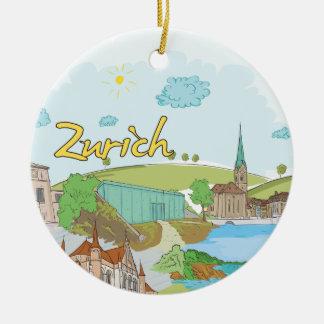 Zurich Ceramic Ornament