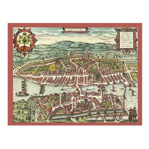 Zurich in the 16th century post card