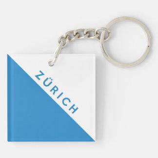 Zurich province Switzerland swiss flag region Keychain