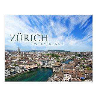 Zurich Suiza Tarjeta Postal