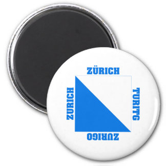 Zurich Switzerland Canton Flag Fridge Magnets