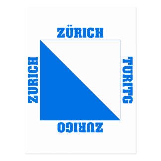 Zurich Switzerland Canton Flag Post Cards