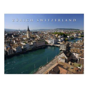 sumners zurich switzerland cityscape postcard