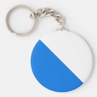 Zürich, Switzerland flag Basic Round Button Keychain