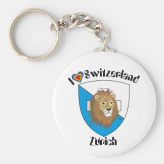 Zurich Switzerland key supporter Keychain