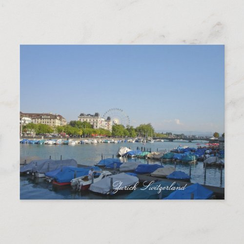 Zurich Switzerland postcard