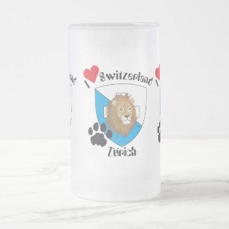 Zurich Switzerland Suisse Svizzera cup 16 Oz Frosted Glass Beer Mug