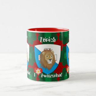 Zurich Switzerland Suisse Svizzera cup Two-Tone Coffee Mug