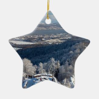 Zurich Switzerland Winter Ceramic Ornament