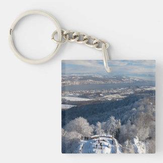 Zurich Switzerland Winter Keychain