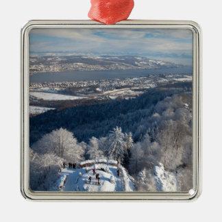 Zurich Switzerland Winter Metal Ornament