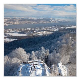 Zurich Switzerland Winter Photograph