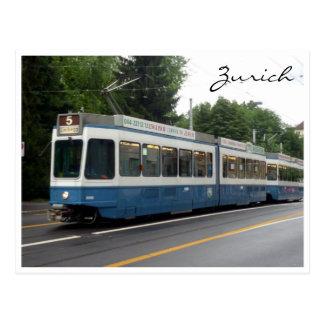 zürich tram post card
