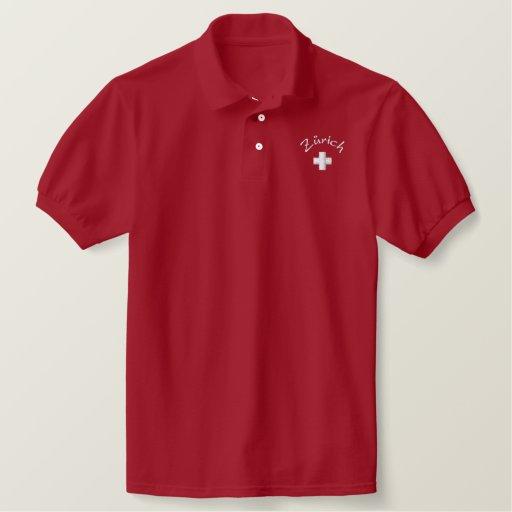 Zurich ( Zürich) - Switzerland Embroidered Polo Shirt