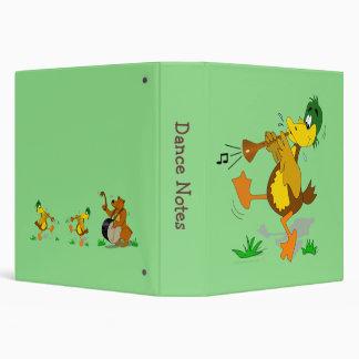 Zurna Musical Cartoon Duck Custom Balkan Music 3 Ring Binder