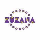 Zuzana en la púrpura de Flores Esculturas Fotográficas