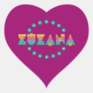 Zuzana in Flores Rainbow Heart Sticker