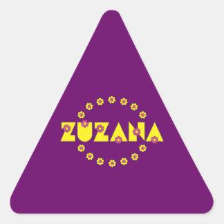 Zuzana in Flores Yellow Triangle Sticker