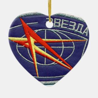 Zvesda: RKC ISS Service Module Ceramic Ornament