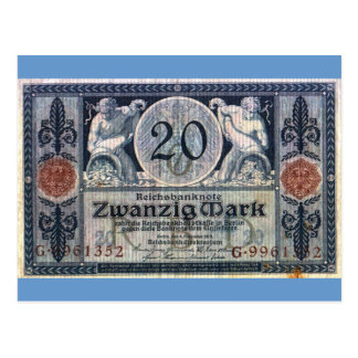 Zwanzig Mark Postcard