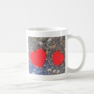 zwei Herzen dos corazones Taza De Café