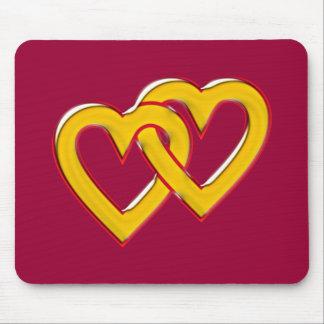 zwei Herzen verbunden two hearts connected Mouse Pad