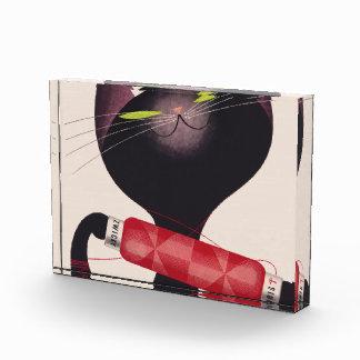 Zwicky Cat Poster by Donald Brun Acrylic Award