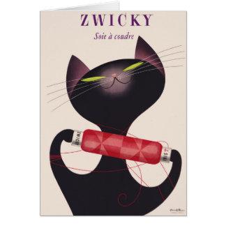 Zwicky Cat Poster by Donald Brun Card