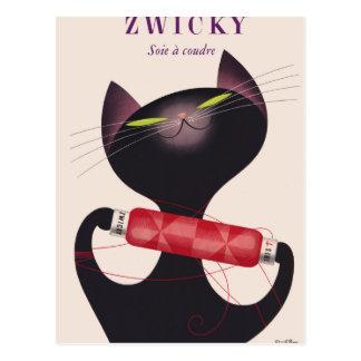 Zwicky Cat Poster by Donald Brun Postcard