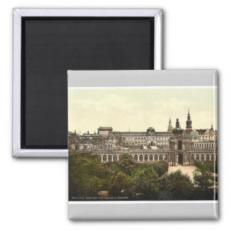 Zwinger and the Theatre, Altstadt, Dresden, Saxony 2 Inch Square Magnet