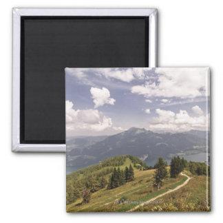 zwoelferhorn, wolfgangsee, salzburg,salzburger 2 2 inch square magnet