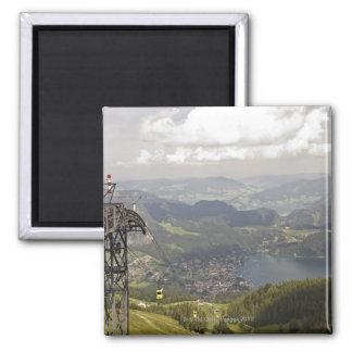 zwoelferhorn, wolfgangsee, salzburg,salzburger 2 inch square magnet
