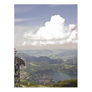 zwoelferhorn, wolfgangsee, salzburg,salzburger postcard