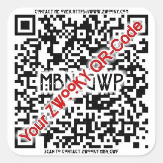 ZWOOKY QR Sticker