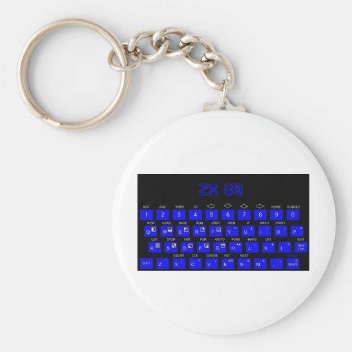 ZX80 Keyboard Basic Round Button Keychain