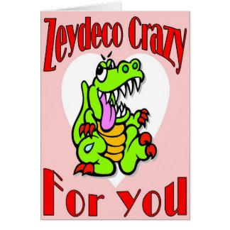 Zydeco Crazy Valentine Card