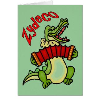 Zydeco Gator Card