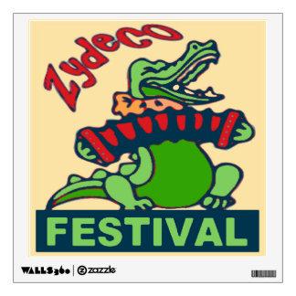 Zydeco  Gator Fest Poster Wall Sticker