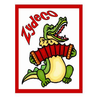 Zydeco Gator Postcard