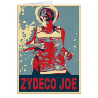 Zydeco Joe en azul Tarjeta De Felicitación