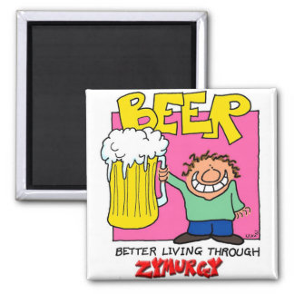 Zymurgy 2 Inch Square Magnet