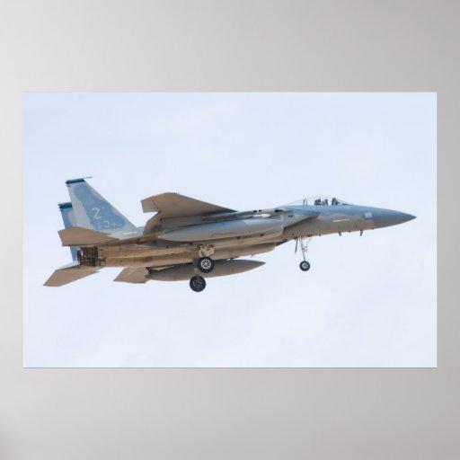 ZZ AF 81 acercamiento de 0042 F-15C Eagle Póster