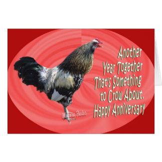 Zz americana del gallo A 3 Tarjeta De Felicitación