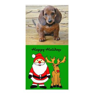 ZZ- Custom Santa and Rudolph Photocard Photo Cards