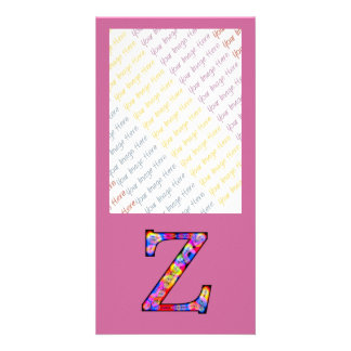 Zz Illuminated Monogram Customized Photo Card