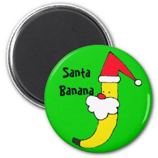 ZZ- imán del plátano de Santa del día de fiesta