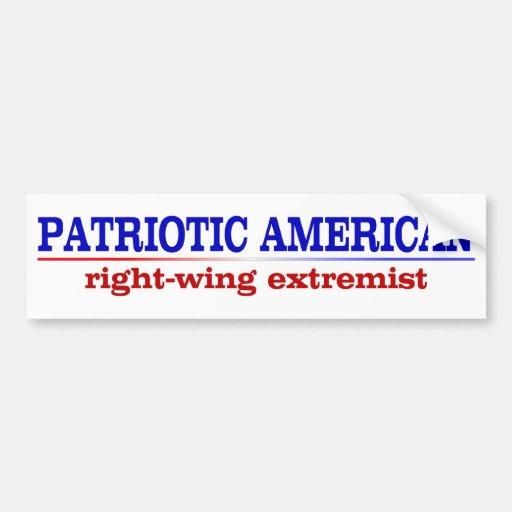zz_patrioticamerican2 pegatina de parachoque