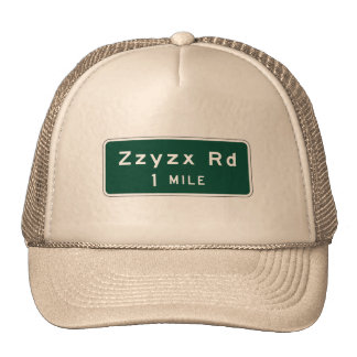 Zzyzx, marcador del camino, California, los Gorras