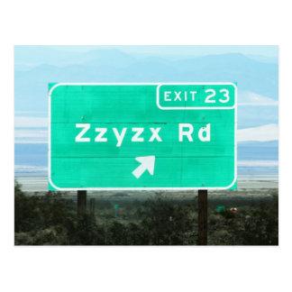 Zzyzx Rd.Exit Postcard