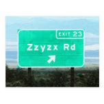 Zzyzx Rd.Exit Tarjetas Postales